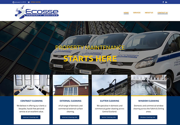 Cleaning Services Falkirk, Scotland – New Website